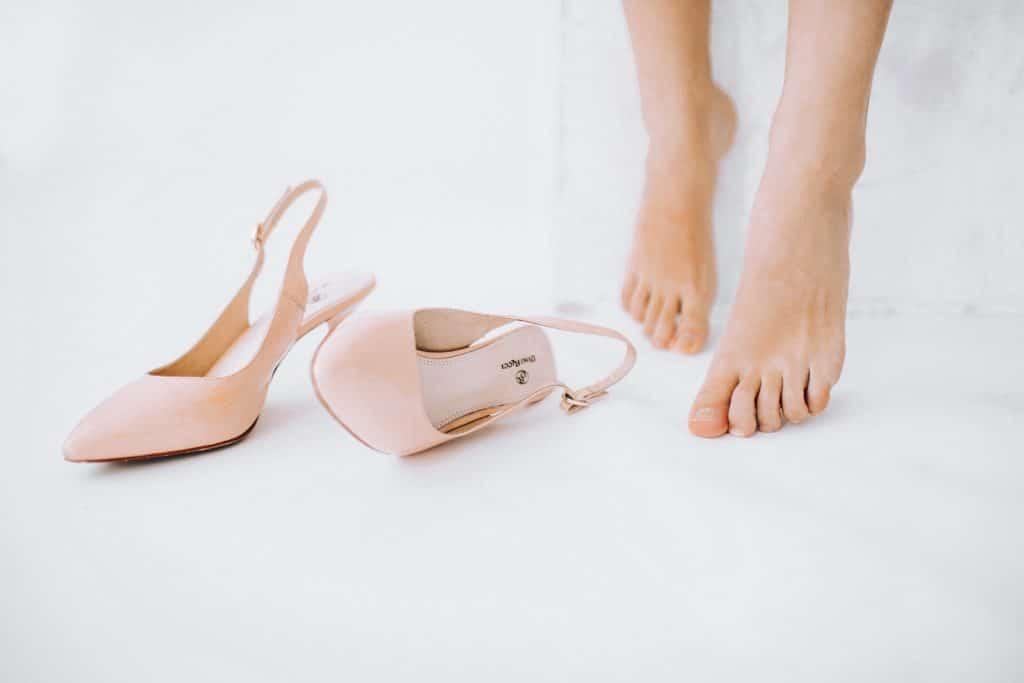 Les chaussures couleur pastel