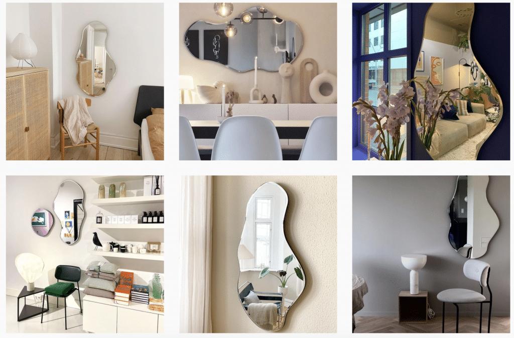 miroir wavy tendance décoration